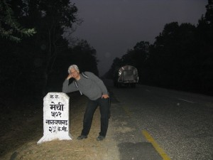 Nearly half-way point near Naryangadh