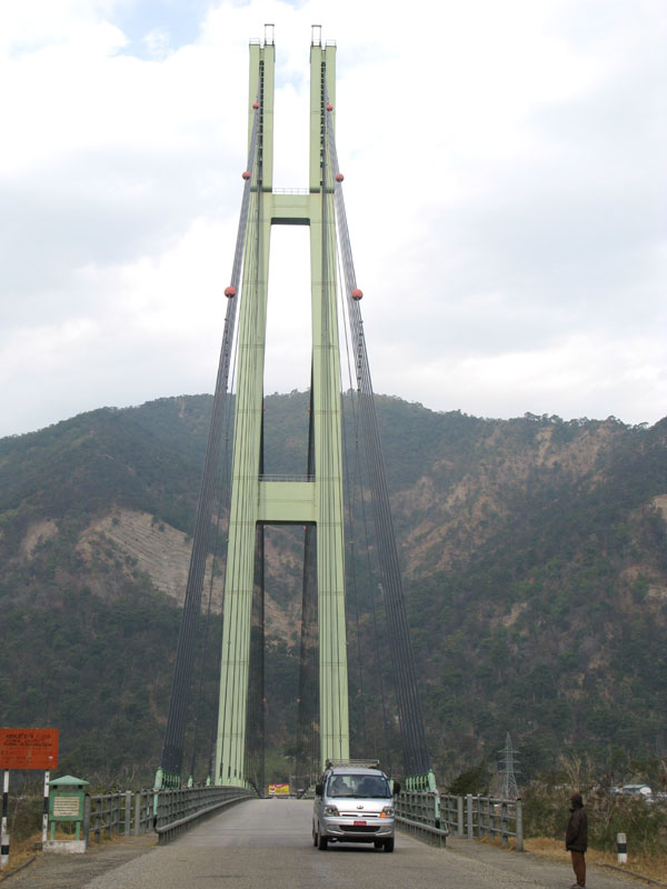 A bridge too far: A state of the art suspension bridge for a stone age highway