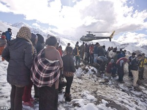 The storm came in October, when locals and trekkers least expected it. Nepal Army helicopters arrived on the morning after to ferry out the survivors of the blizzards and avalanche in Manang