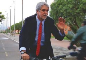 Enrique Penalosa on a bicycle