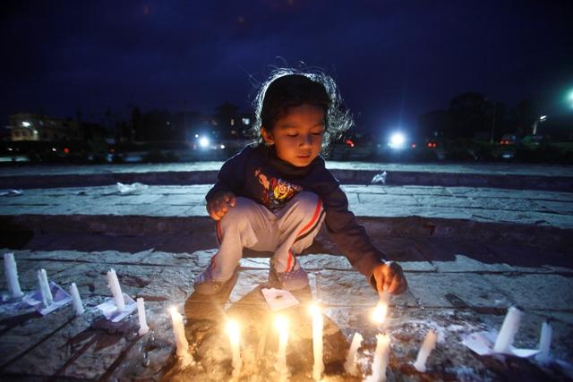 Maitighar candle