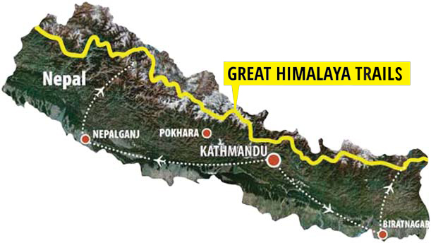 Great Himalaya Trail map