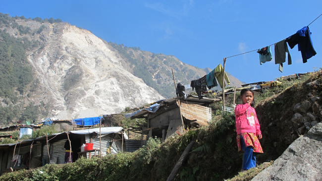 Winter in Gorkha after earthquake
