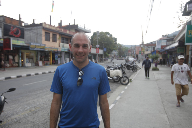 German tourist Mark Kessler is one of the few ones remaining in Pokhara.