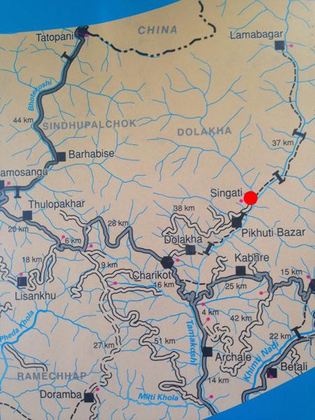Map of Singati