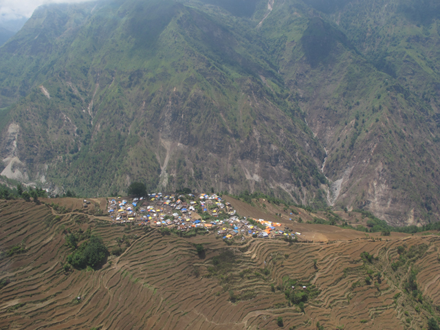 Laprak village has got relief supplies, and survivors are living out in the open in tents.