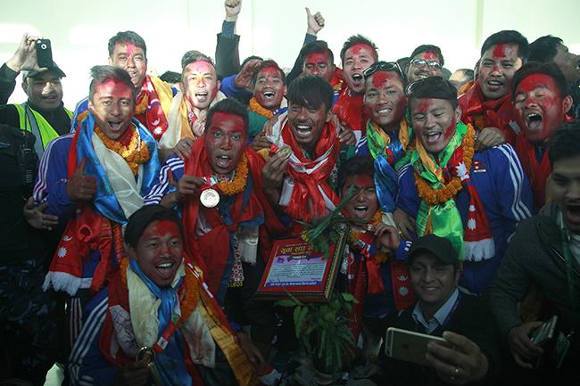 Nepal SAG gold winners