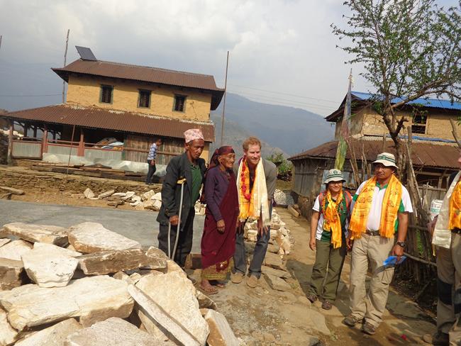 Prince Harry in Lamjung