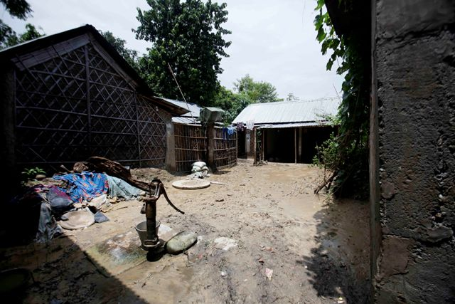A village in Saptari lies abandoned after the floods