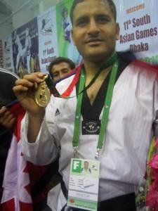 deepak bista winning gold
