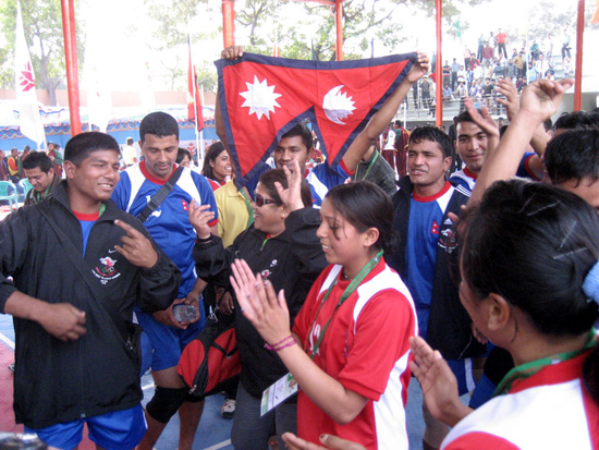 Celebrations after the victory. PHOTO: SURESH NEUPANE