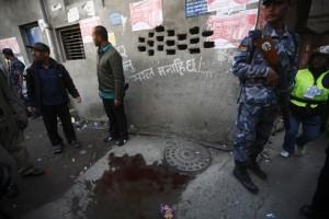 bomb blast scene