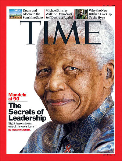 The former South African president was the cover of Times magazine in July 2008.
