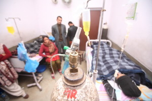 Nanda Prasad and Gangamaya Adhikari are on the 134th day of their fast-unto-death at Bir Hospital