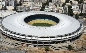 The Maracana Stadium in Brazil which is believed to have held 200,00 fans at the World Cup final in the 1950s.