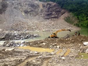 Sunkoshi landslide dam area