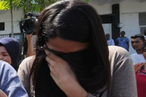 Nirmala Thapa leaves a courthouse in Bukit Mertajam in Malaysia after being sentenced for abortion last week. Pic: The Star