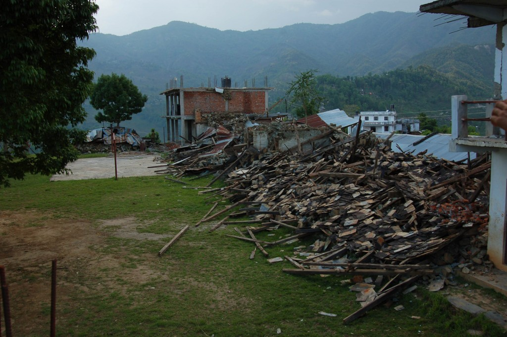What remains of the Jaubari School in Gorkha.