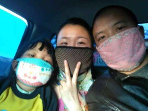 Yang Huibang's family on their journey from Wuhan to Kathmandu through Rasuwa border.
