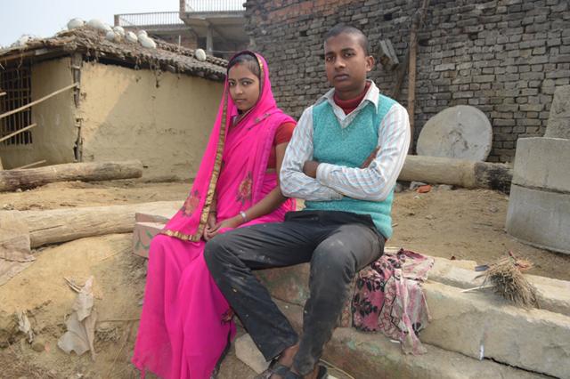 Sonu Kanu Sah and Bindu Kanu Sah who lost their six-month-old son Arjun