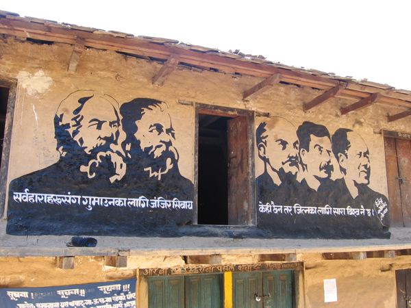 Maoist Leader Photos in Thabang House Wall