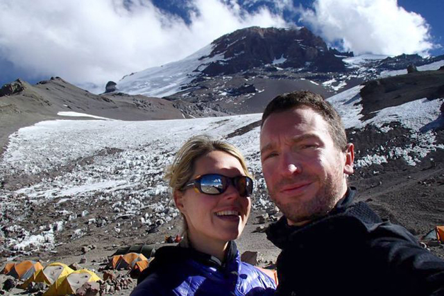 Maria Styrdom with her husband Robert Gropel. Stardom died on Sunday high on Mt Everest of altitude sickness. Photo: AAP/Monash University