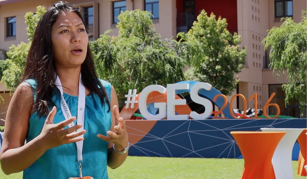 Susana Shrestha at the GES 2016 in Palo Alto California.