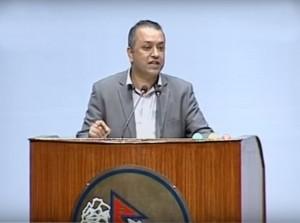 Nepali Congress MP Gagan Thapa in Parliament on Tuesday.