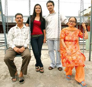 Malvika Subba family
